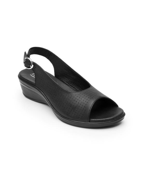 Sandalia Casual Flexi - Estilo 100011 Negro