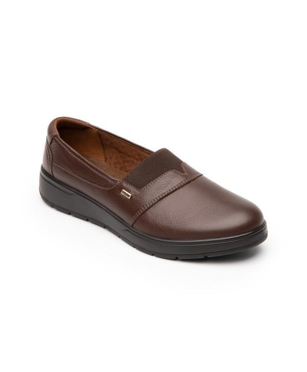 Zapato Casual Flexi Para Mujer Con Autoajuste Estilo 103604 Café