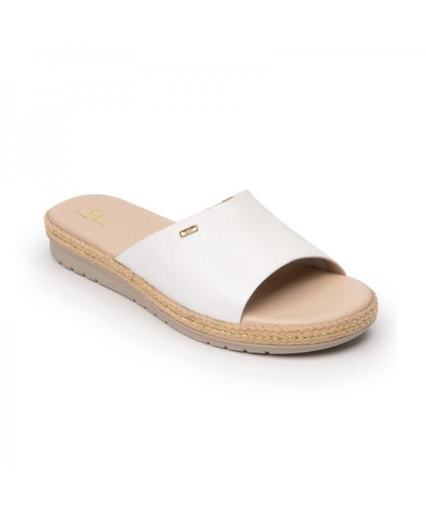 Sandalia Casual Flexi Para Mujer Con Suela Extra Ligera Estilo 100201 White