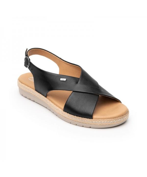 Sandalia Casual Flexi Para Mujer Con Suela Extra Ligera Estilo 100206 Black