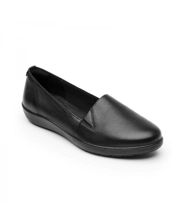 Slip On Casual Flexi Para Mujer Con Sistema Walking Soft Estilo 101905 Negro
