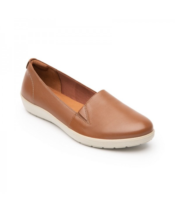 Slip On Casual Flexi Para Mujer Con Sistema Walking Soft Estilo 101905 Tan
