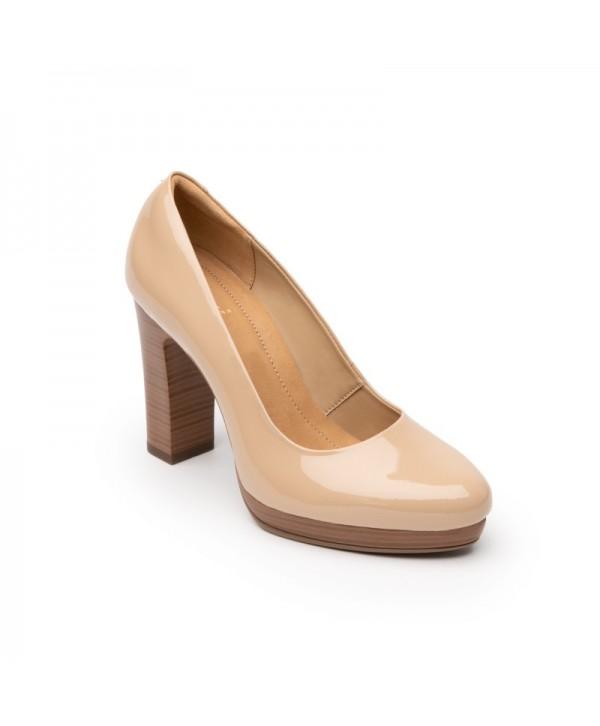 Zapatillas Con Tacón Ancho Flexi Para Mujer Estilo 104601 Maquillaje