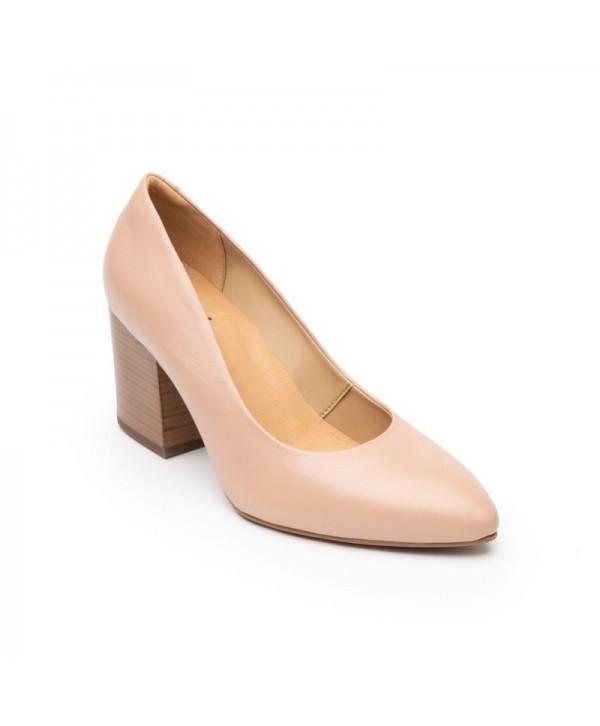 Zapatillas Con Tacón Ancho Flexi Para Mujer Estilo 105901 Maquillaje