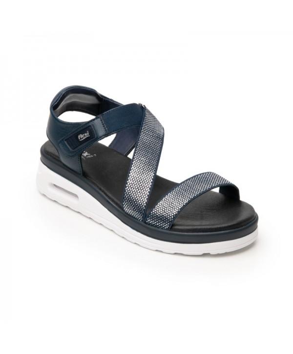 Sandalia Casual Flexi Para Mujer Con Capsula Air Sandal Estilo 106501 Azul