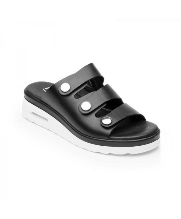 Sandalia Casual Flexi Para Mujer Con Capsula Air Sandal Estilo 106502 Negro