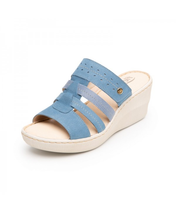 Sandalia Casual Flexi Para Mujer Con Autoajuste Estilo 106903 Azul