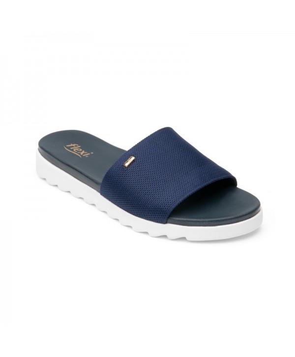 Sandalia Casual Flexi Para Mujer Con Plantilla Confortable Estilo 107101 Azul