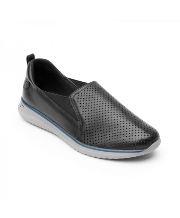 Sneaker Casual Flexi Para Mujer Con Suela Extra Ligera Estilo 107601 Negro