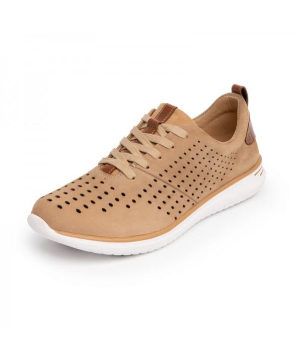 Sneaker Casual Sport Flexi Para Mujer Con Suela Extra Ligera Estilo 107602 Beige