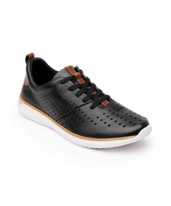 Sneaker Casual Sport Flexi Para Mujer Con Suela Extra Ligera Estilo 107602 Negro