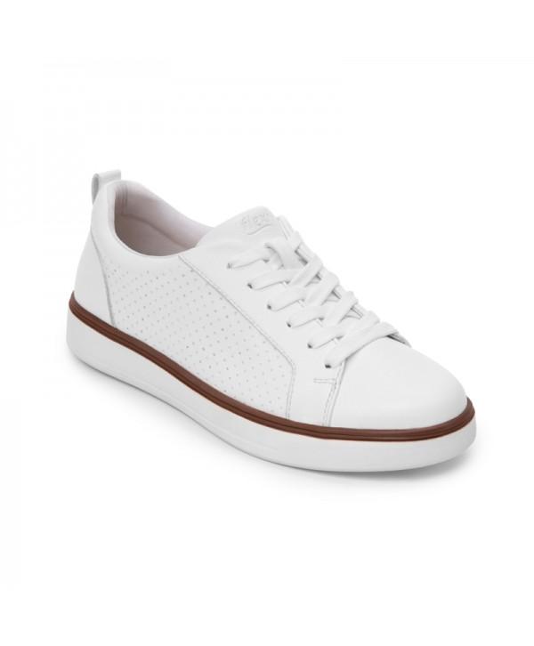 Sneaker Casual Flexi Para Mujer Estilo 107703 Blanco