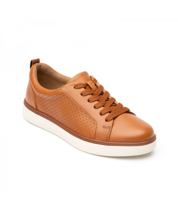 Sneaker Casual Flexi Para Mujer Estilo 107703 Camel