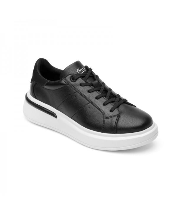 Sneaker Urbano Flexi Para Mujer Con Flowtek Estilo 108102 Negro