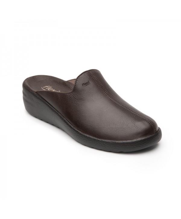 Zapato Mule Flexi Para Mujer Estilo 108602 Cocoa