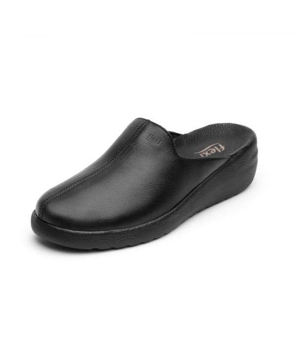 Zapato Mule Flexi Para Mujer Estilo 108602 Negro