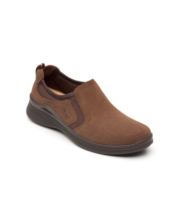 Flat Casual Sport Flexi Con Sistema Walking Soft Para Mujer - Estilo 37510 Café
