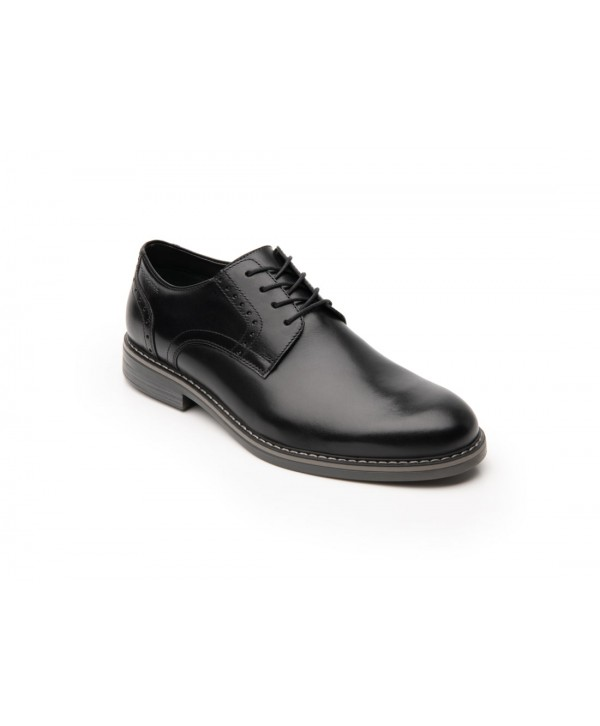Zapato Derby Flexi Para Hombre Con Agujetas Estilo 404601 Negro
