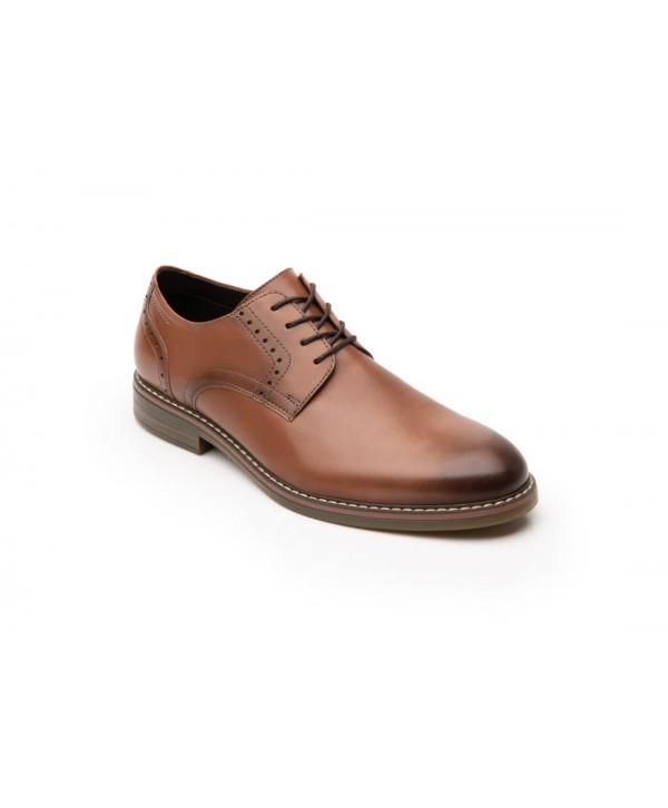 Zapato Derby Flexi Para Hombre Con Agujetas Estilo 404601 Tan