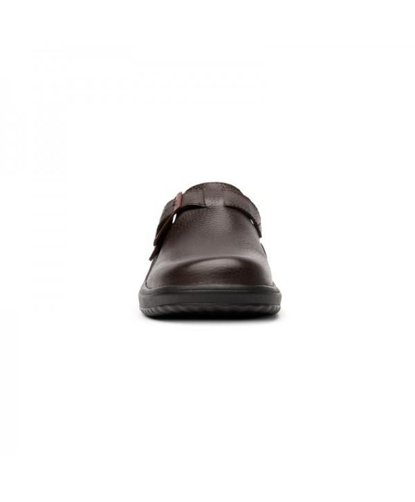 Sueco Piel Suave Flexi Para Hombre Estilo 408002 Chocolate