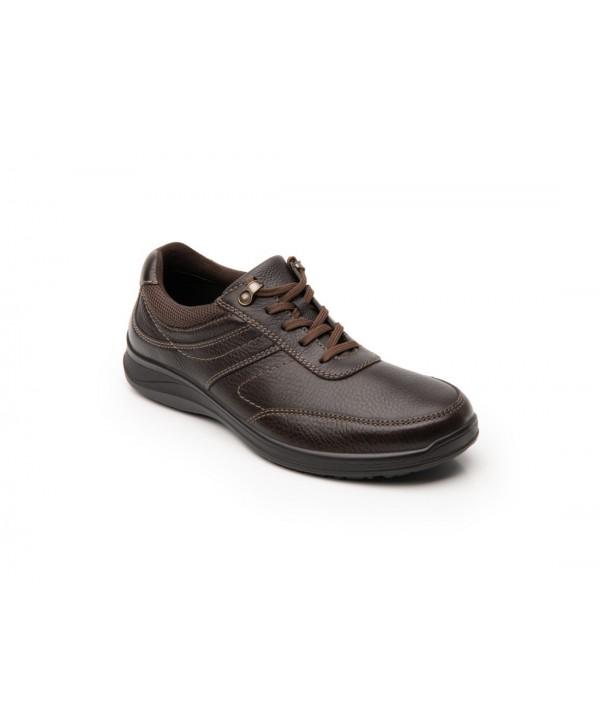 Zapato Choclo Flexi Para Hombre Con Agujetas Estilo 50810 Chocolate