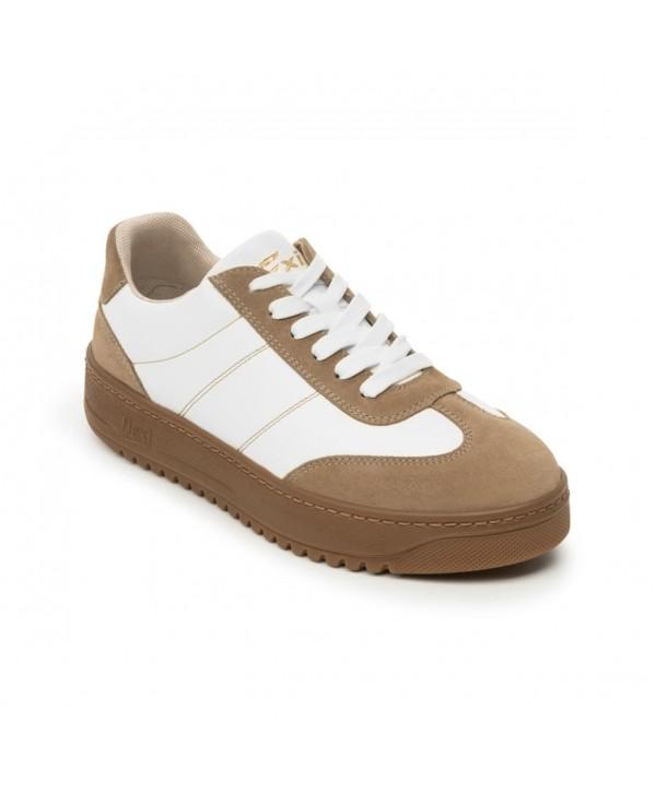 Sneaker Urbano Flexi Para Mujer Con Plantilla Comfort Pad Estilo 103505 Camel