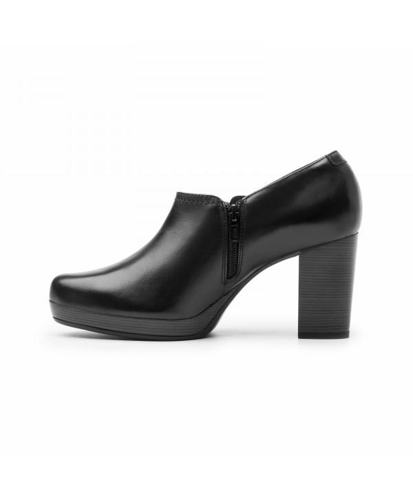 Botín Flexi Para Mujer Con Tacón Ancho - 105802 Negro