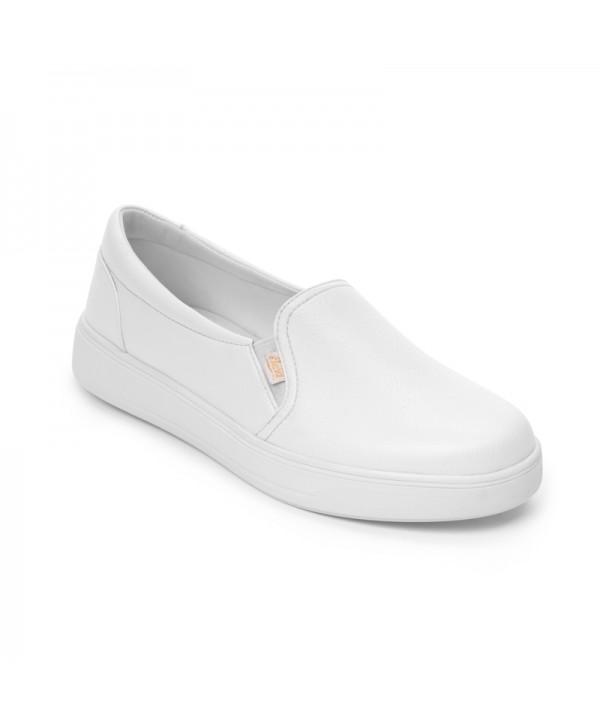 Sneaker Casual Flexi Para Mujer Estilo 107701 Blanco