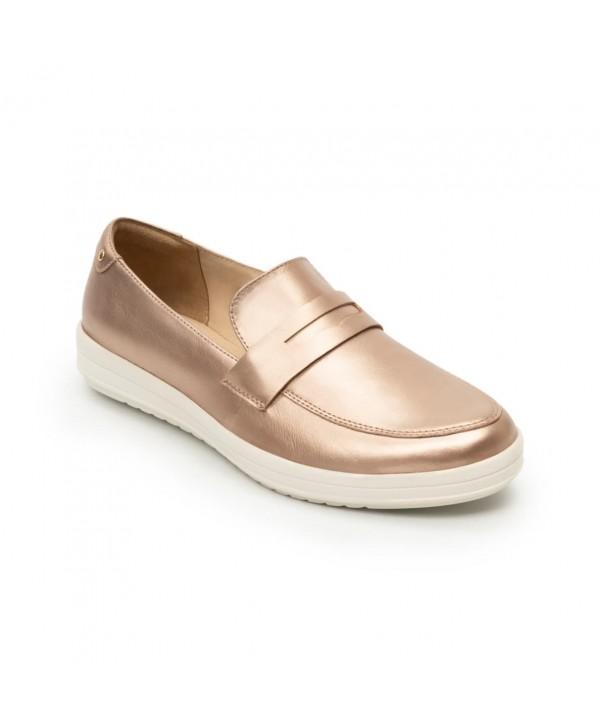 Loafer Casual Flexi Para Mujer Con Suela Extra Ligera Estilo 109403 Oro Rosa