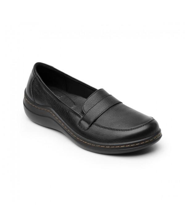 Mocasín Casual Flexi Para Mujer Con Walking Soft Estilo 110301 Negro