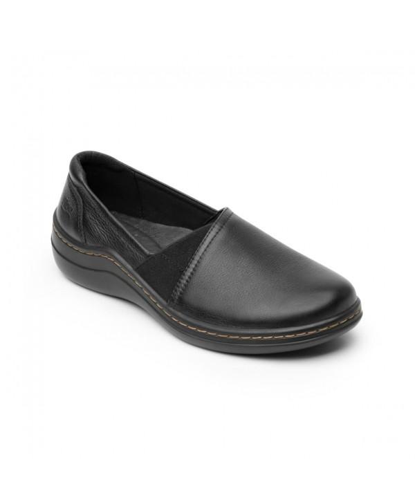 Zapato Casual Flexi Para Mujer Con Walking Soft Estilo 110302 Negro