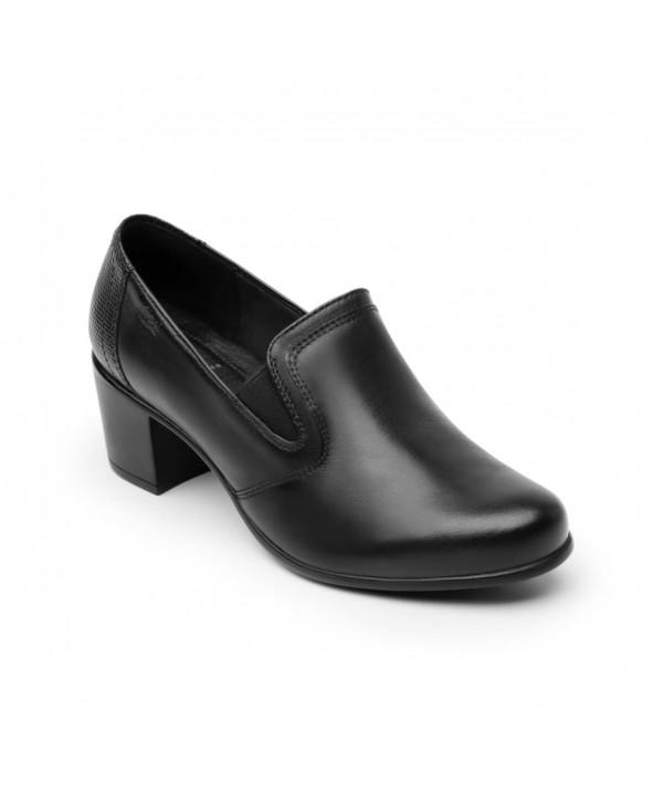 Zapato Casual De Tacón Flexi Para Mujer Estilo 110401 Negro