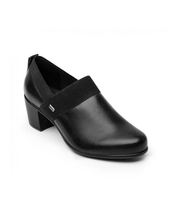 Zapato Casual De Tacón Flexi Para Mujer Con Autoajuste Estilo 110402 Negro