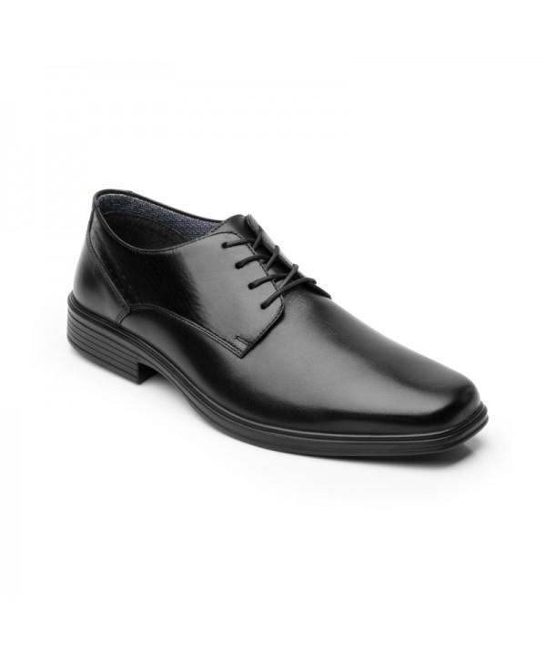 Derby Flexi Para Hombre Con Walking Soft Estilo 406401 Negro