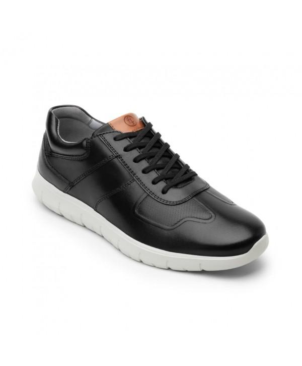 Sneaker Urbano Bolichero Flexi Para Hombre Con Suela Extraligera Estilo 408601 Negro
