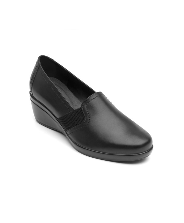 Zapato De Confort Flexi Con Cuña De Alto Brillo - 45211