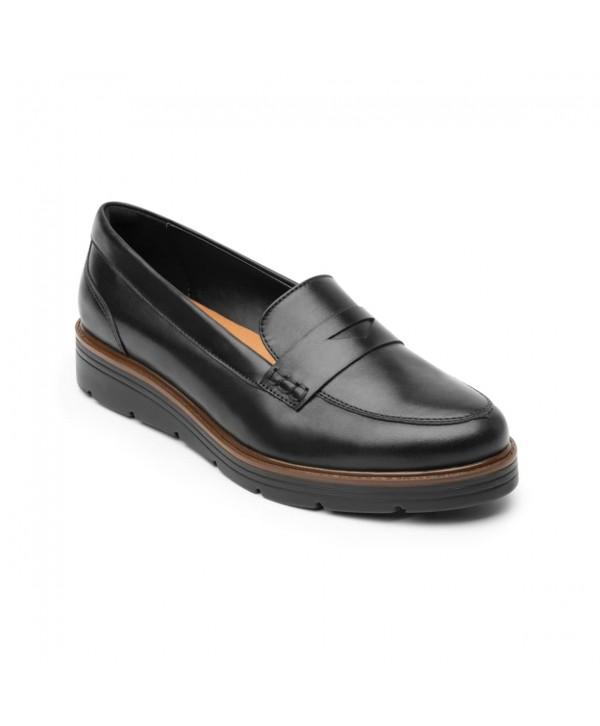 Loafer Con Plataforma Flexi Para Mujer Estilo 45717 Negro